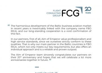 Flight Consulting Group Celebrates 20th Anniversary and Expands Presence in Europe